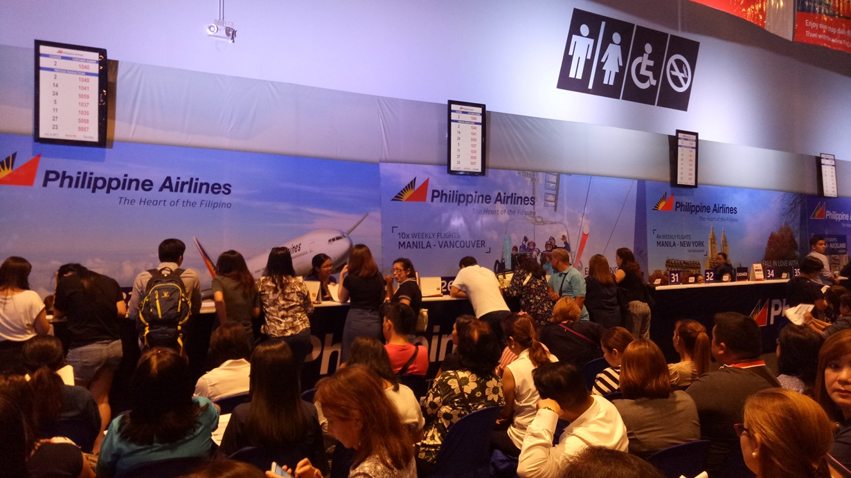 QueueRite Used by Philippine Airlines During Travel Madness Expo 2017 at SMX Convention Center, Pasay